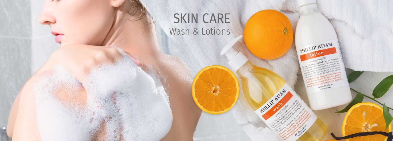 natural skin care body washes and lotions
