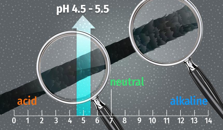 Hair pH balance