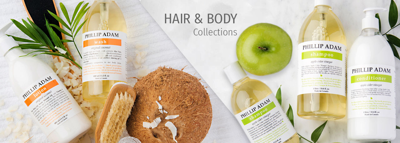 Hair and body care collections