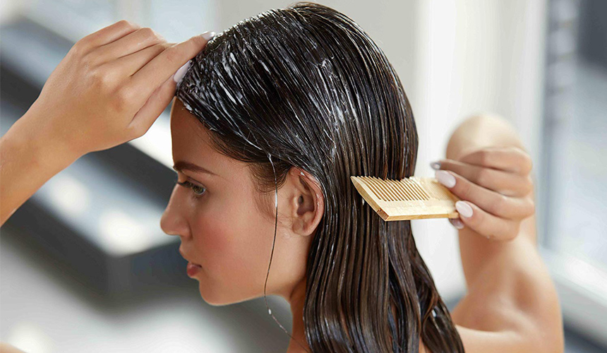Moisturize your hair with hair conditioner