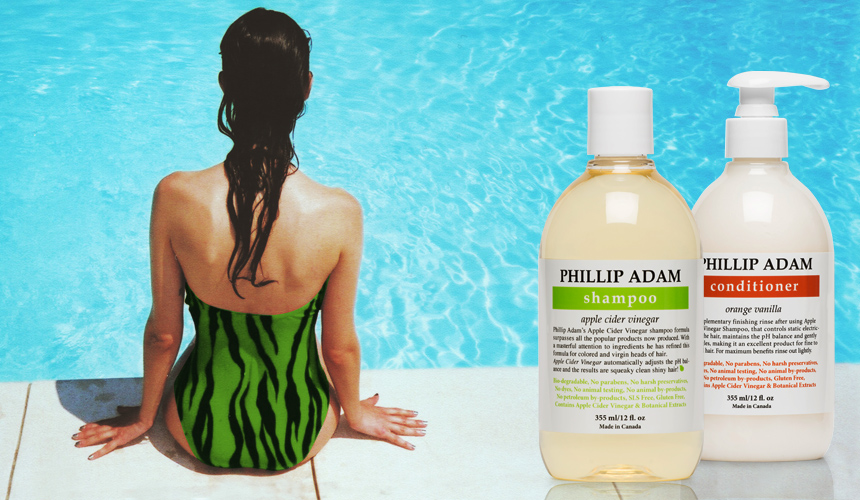 Protect your hair from chlorine with conditioner and mild shampoo