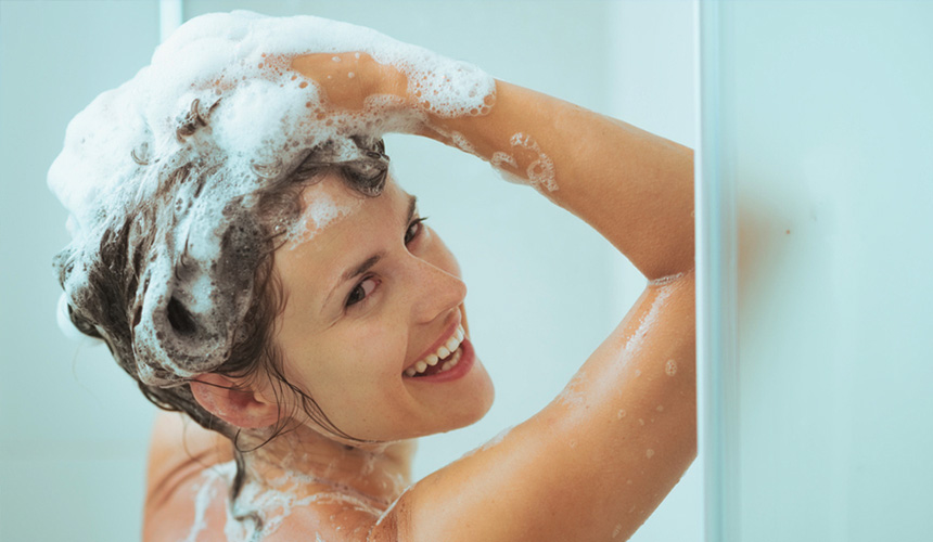 Use gentle sulphate-free shampoo for the summer