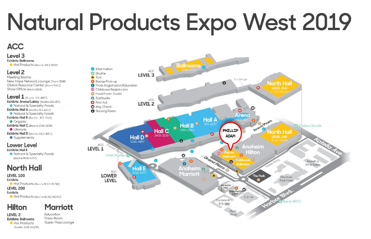 natural products expo west map