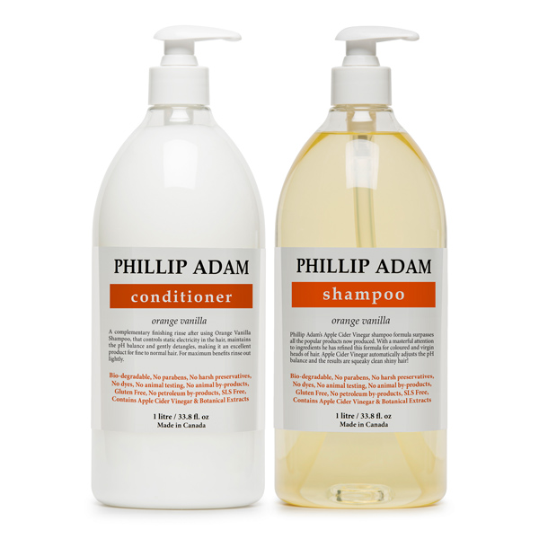 Orange Vanilla Shampoo and Conditioner Litres