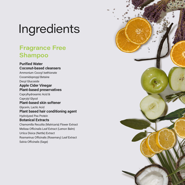 Phillip Adam unscented shampoo natural ingredients