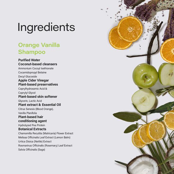 Phillip Adam orange vanilla shampoo natural ingredients