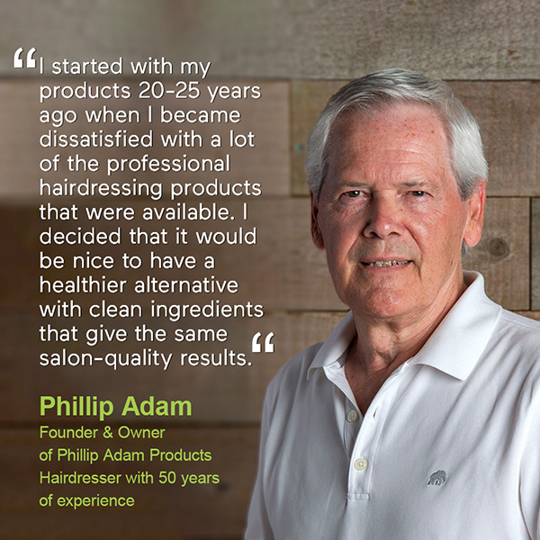 Phillip Adam about his haircare line