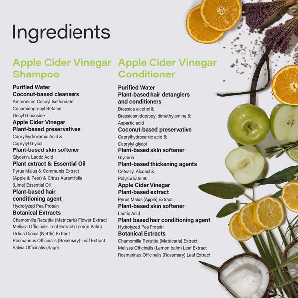 Phillip Adam Apple Cider Vinegar set natural ingredients