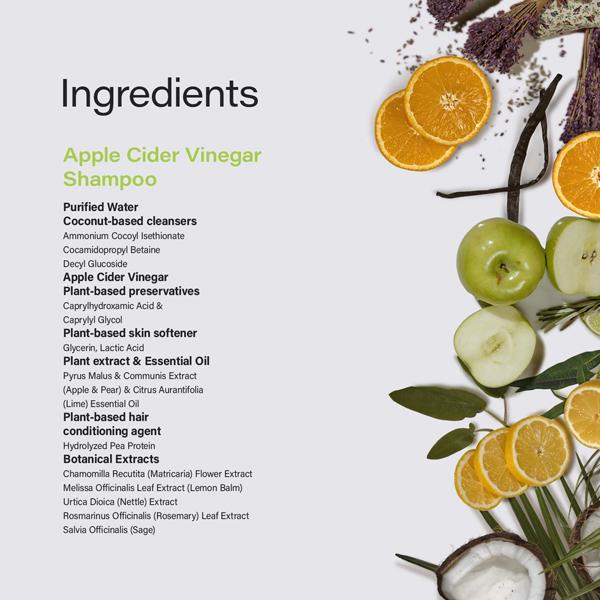 Phillip Adam apple cider vinegar shampoo natural ingredients