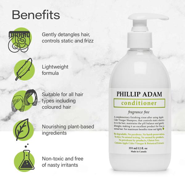 benefits of Phillip Adam unscented conditioner