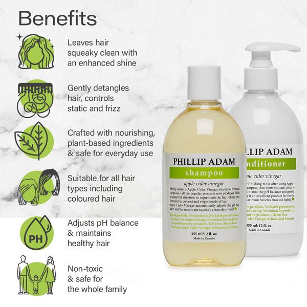 benefits of Phillip Adam Apple Cider Vinegar set