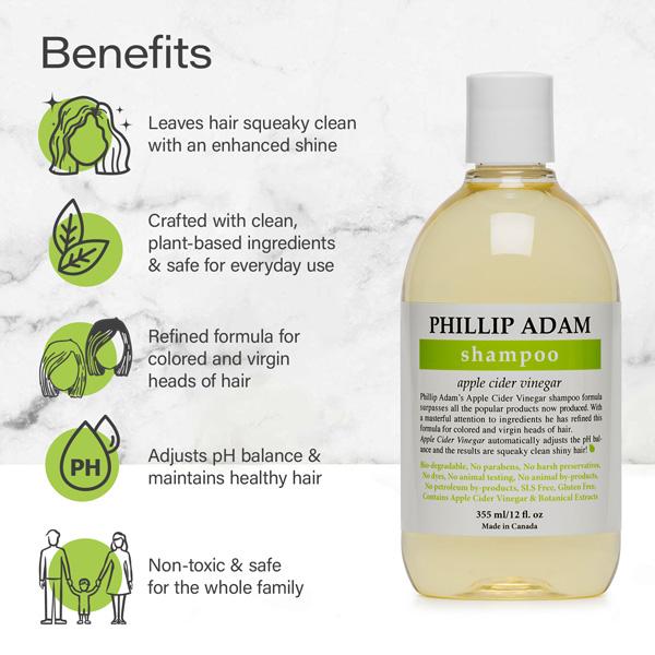 benefits of Phillip Adam apple cider vinegar shampoo