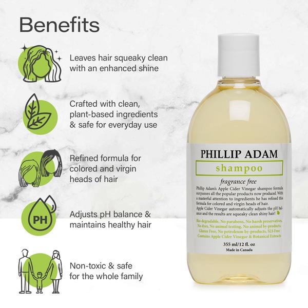 benefits of Phillip Adam unscented shampoo