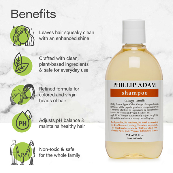 benefits of Phillip Adam orange vanilla shampoo